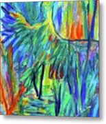 Shadow Heron Metal Print