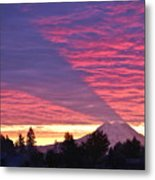Shadow Of Mount Rainier Metal Print by Sean Griffin