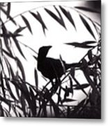 Shadow Of The Crow Metal Print