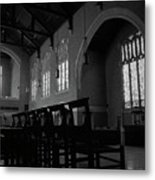 Shadow Of The Empty Chairs Metal Print