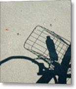 Shadow On The Beach Metal Print