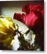 Shadow Roses Metal Print
