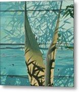 Shadowed Agave Metal Print