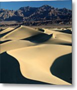 Shadows And Light On The Sand Dunes Metal Print