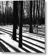 Shadows And Tracks Metal Print