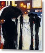 Shadows In The Rain Metal Print