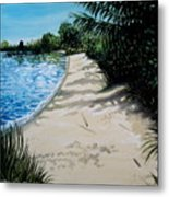 Shadows In The Sand Metal Print