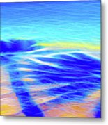 Shadows In The Surf Metal Print