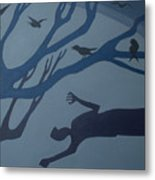 Shadows Move Among Us Metal Print