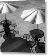Shadows On Campus Metal Print