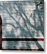 Shadows On Churchdoor Metal Print
