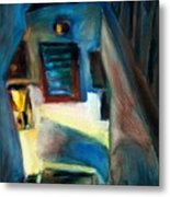 Shadows On The Down Stairs Metal Print