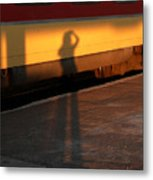 Shadows On The Platform 2 Metal Print