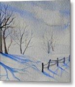 Shadows On The Snow Metal Print