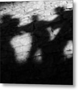Shadows On The Wall Of Edinburgh Castle  Metal Print
