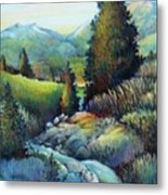 Shady Creek Metal Print
