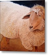 Shaggy Sheep Metal Print
