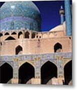 Shah Mosque At Isfahan In Iran Metal Print