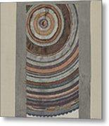 Shaker Circular Rug Metal Print