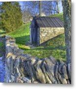 Shaker Stone Fence 6 Metal Print
