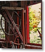 Shakers Woodshop Metal Print by Steve Ohlsen