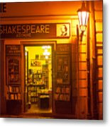 Shakespeares' Bookstore-prague Metal Print by John Galbo