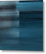 Shallow- Abstract Art By Linda Woods Metal Print