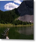 Shallow Mountain Lake Metal Print