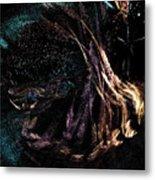 Shaman Dancing With Spirits Metal Print