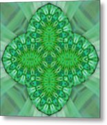 Shamrock In Abstract Metal Print