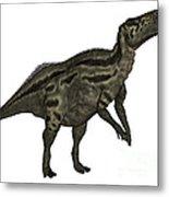 Shantungosaurus Dinosaur Metal Print