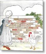 Shara And The Rooster Metal Print