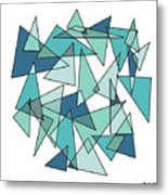 Shards Of Blue Metal Print