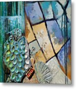 Shards Water Clay And Fire Metal Print