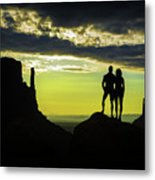 Sharing A Monument Valley Sunrise Metal Print
