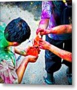 Sharing Colors Sharing Happiness Metal Print