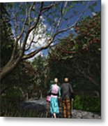 Sharing The Moment Metal Print