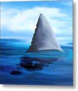 Shark Fin Metal Print