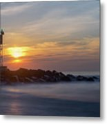 Shark River Inlet Bug Light Metal Print