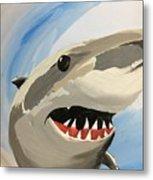 Sharky Grin Metal Print