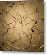 Shattered Gold Metal Print