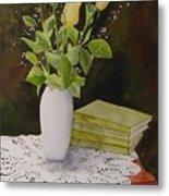 Shaw And Yellow Roses Metal Print