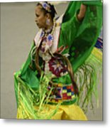 Pow Wow Shawl Dancer 3 Metal Print