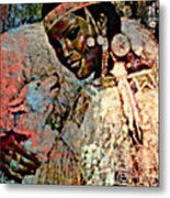 She Dances With Wolves Metal Print