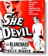 She Devil, Blonde Woman Featured Metal Print