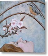 She Dreams The Spring Metal Print by Sheri Howe