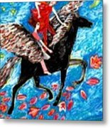 She Flies With The West Wind Metal Print