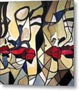She Had Red Lips Metal Print