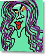 She Is Style Metal Print
