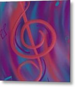 She Loves Me N G Clef Metal Print